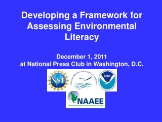 Developing a Framework for  Assessing Environmental Literacy