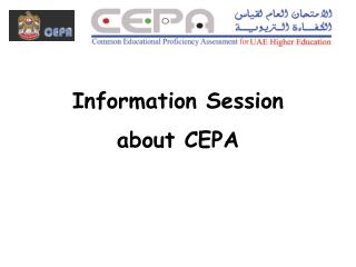 Information Session  about CEPA