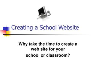 Creating a School Website