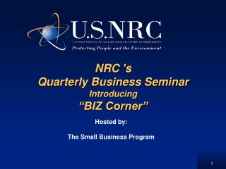 "NRC 's  Quarterly Business Seminar Introducing  ""BIZ Corner"""