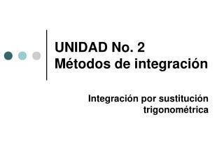 UNIDAD No. 2 Métodos de integración