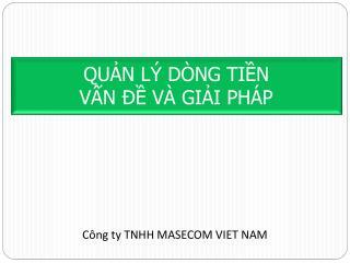 QU?N L� D�NG TI?N V?N ?? V� GI?I PH�P