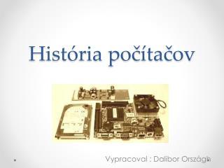 História počítačov