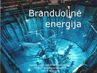 Branduolin ė energija