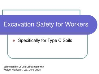 Excavation Safety for Workers