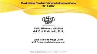 Movimiento Familiar Cristiano latinoamericano 2013-2017