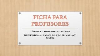 FICHA PARA PROFESORES