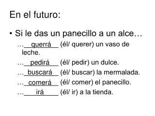 En el futuro: