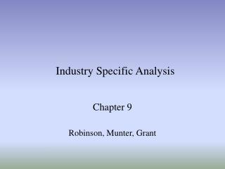 Industry Specific Analysis