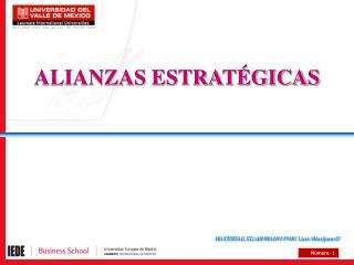 ALIANZAS ESTRAT�GICAS