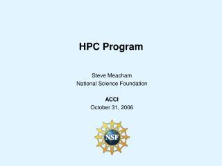 HPC Program