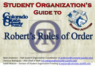 Student Organization's  Guide to