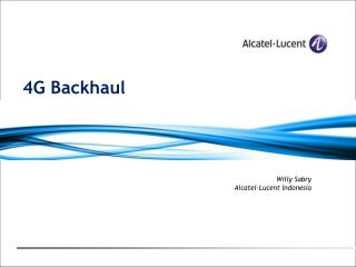 4G Backhaul