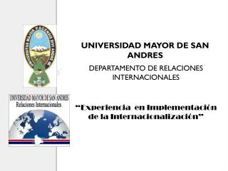 UNIVERSIDAD MAYOR DE SAN ANDRES