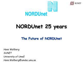 NORDUnet 25 years