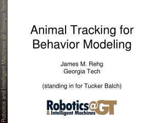 Animal Tracking for Behavior Modeling