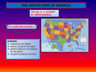 THE UNITED STATE OF AMERICA