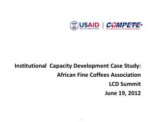 Institutional  Capacity Development Case Study: African Fine Coffees Association LCD Summit
