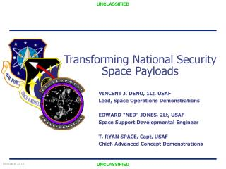 Transforming National Security Space Payloads