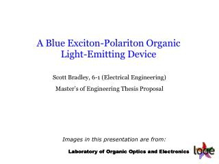 A Blue Exciton-Polariton Organic Light-Emitting Device
