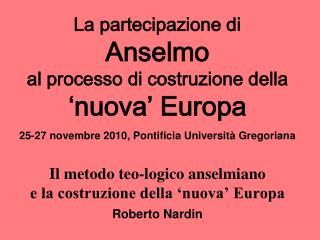 1. Anselmo d'Aosta e lo sfondo culturale