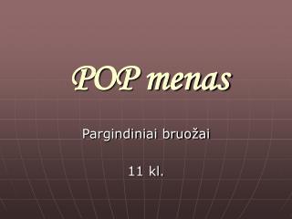 POP menas