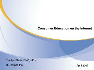 Consumer Education on the Internet