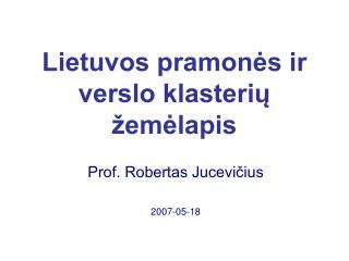 Lietuvos pramonės ir verslo klasterių žemėlapis