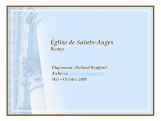 �glise de Saints-Anges Beauce