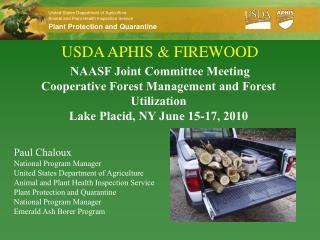 USDA APHIS & FIREWOOD