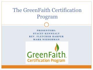 The GreenFaith Certification Program