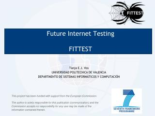Future  Internet  Testing FITTEST