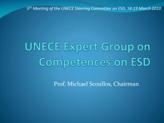 UNECE Expert Group on Competences on ESD