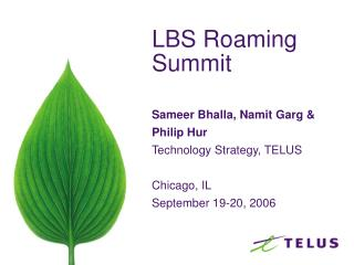 LBS Roaming Summit