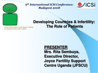 Developing Countries & Infertility:  The Role of Patients