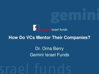 How Do VCs Mentor Their Companies?