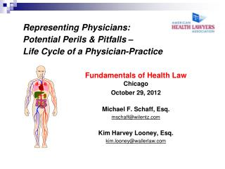 Representing Physicians: Potential Perils & Pitfalls – Life Cycle of a Physician-Practice