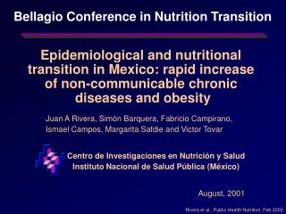 Epidemiological and nutritional  transition in Mexico: rapid increase