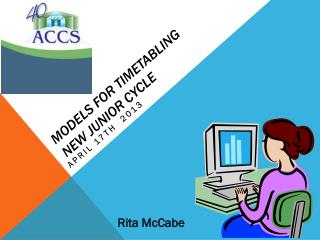 models for timetabling  New junior Cycle