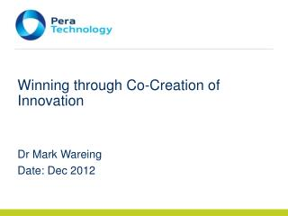 Winning through Co-Creation of Innovation