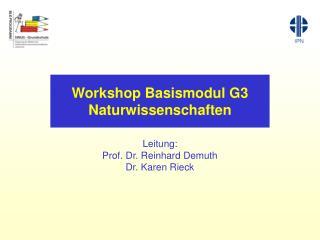 Workshop Basismodul G3 Naturwissenschaften