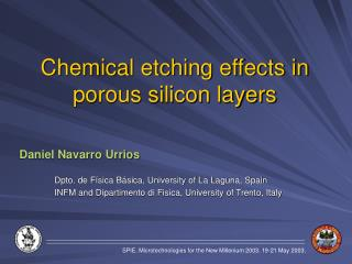 Chemical etching effects in porous silicon layers