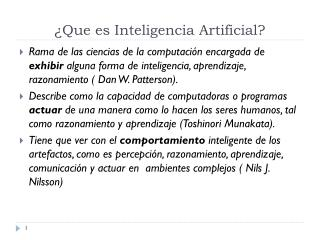 ¿Que es Inteligencia Artificial?