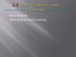 5.3  Venn Diagrams and Counting