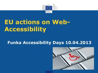 EU actions on Web-Accessibility