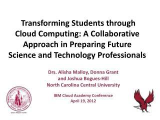 Drs. Alisha Malloy, Donna Grant and Joshua Bogues-Hill North Carolina Central University