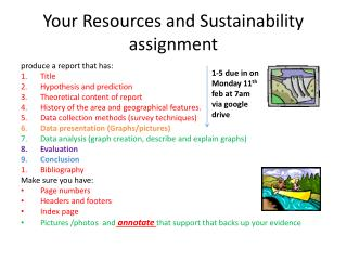 Your Resources and Sustainability  assignment