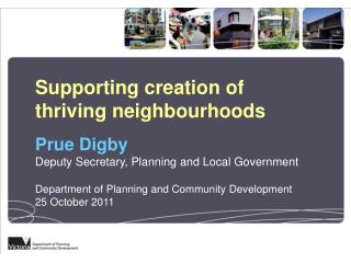 Supporting creation of thriving neighbourhoods
