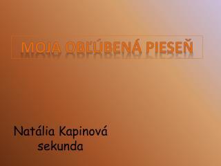 Natália  Kapinová sekunda