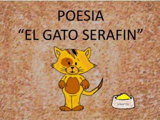 "POESIA   ""EL GATO SERAFIN"""
